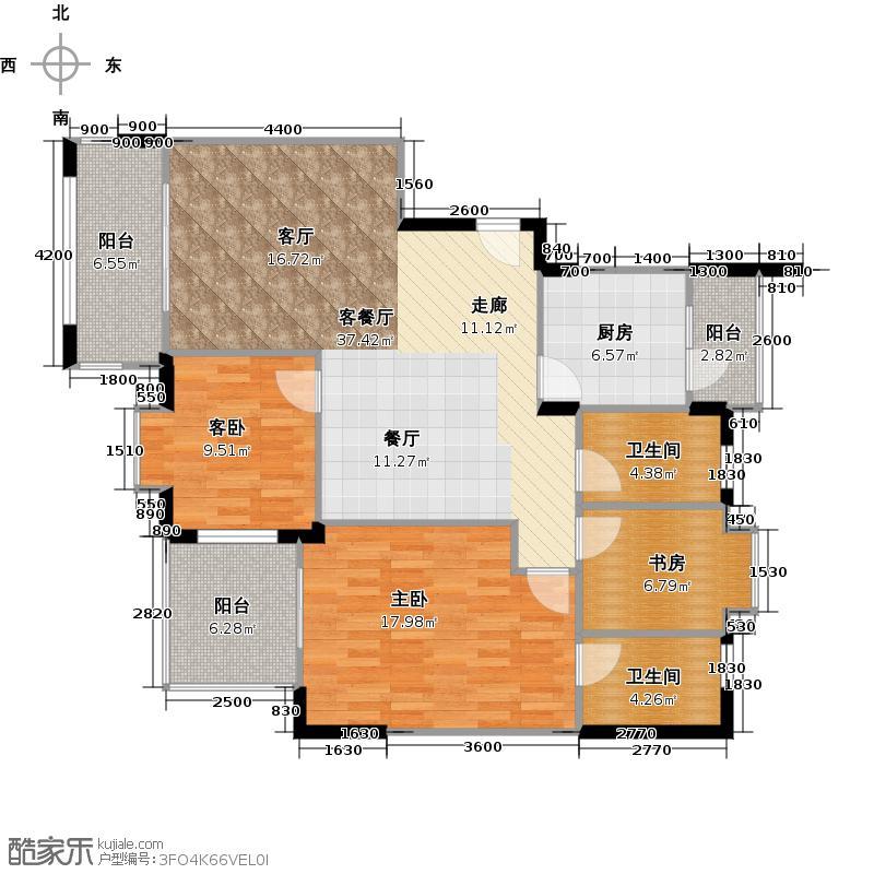 南沙奥园户型3室1厅2卫1厨