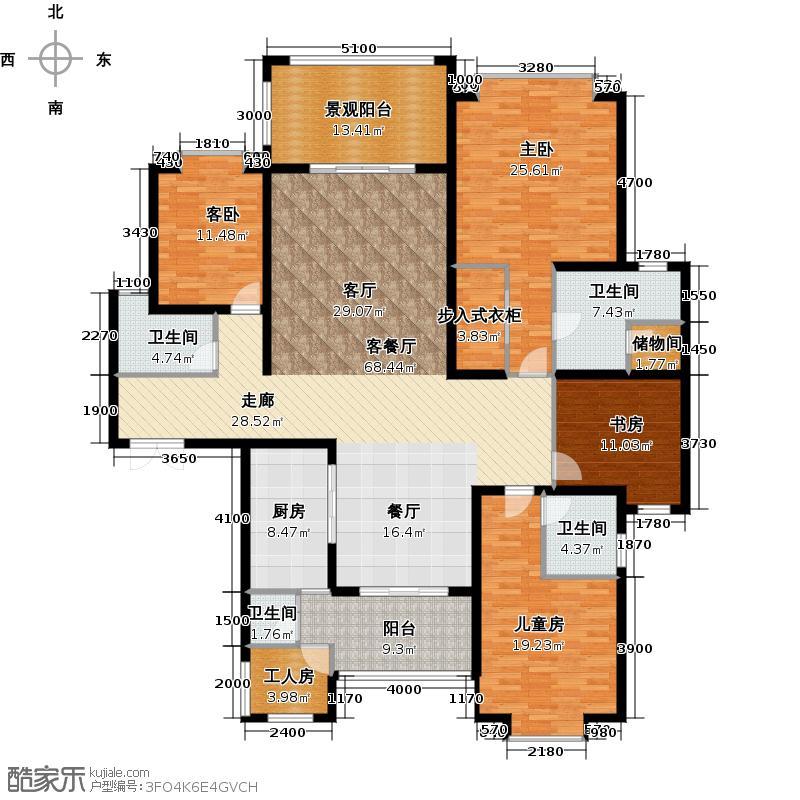 南沙奥园誉山海6栋01/02单位户型4室1厅4卫1厨