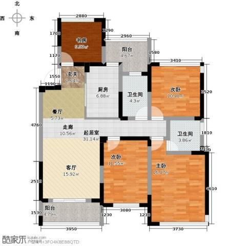 卓锦兰香4室0厅2卫1厨118.00㎡户型图
