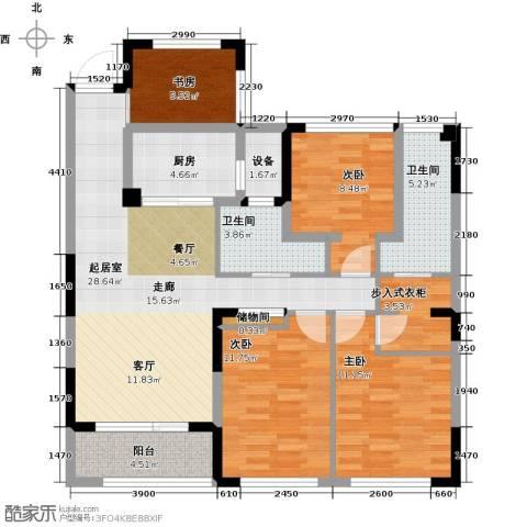 卓锦兰香4室0厅2卫1厨108.00㎡户型图