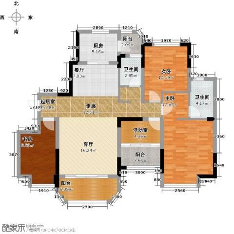 福鼎碧桂园3室0厅2卫1厨133.00㎡户型图