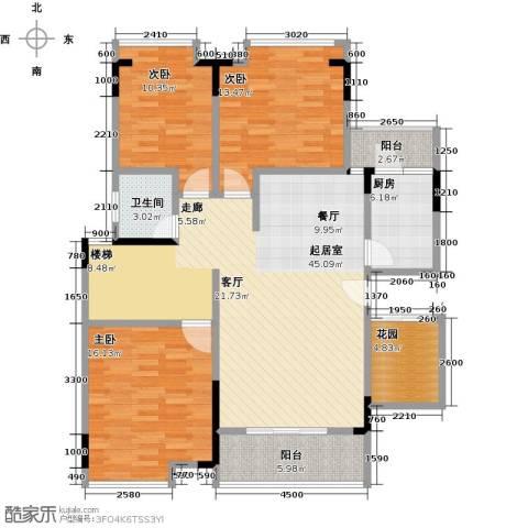 恒产・城市今典3室0厅1卫1厨160.00㎡户型图