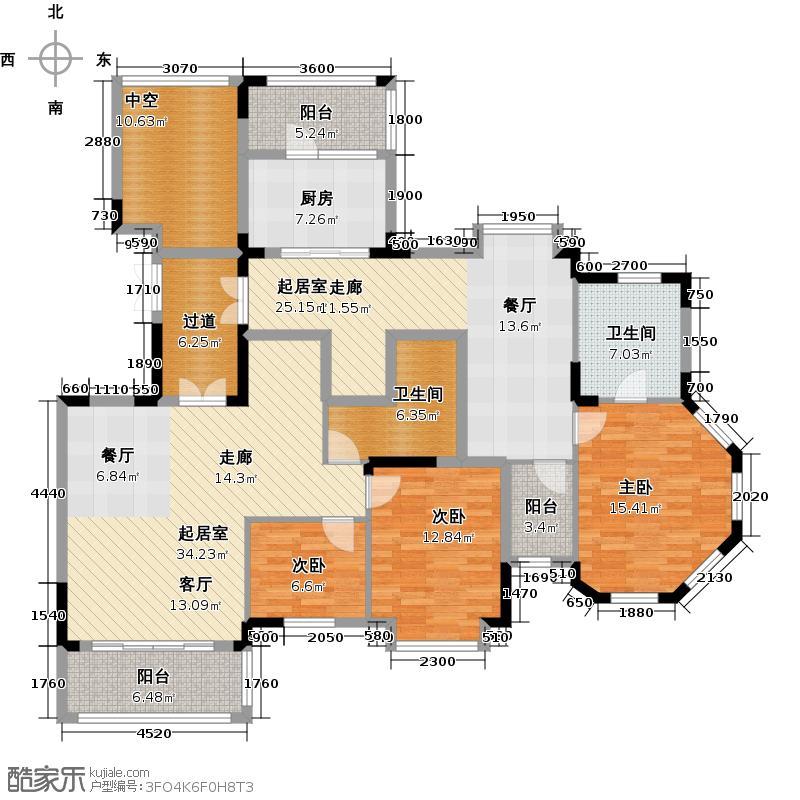 桃源居首府170.00㎡L1+L2户型4室2厅2卫
