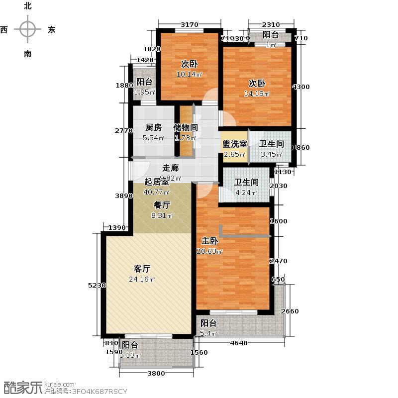 中信泰富朱家角新城B-4户型3室2卫1厨