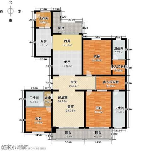 绿洲康城金邸3室0厅3卫1厨231.00㎡户型图