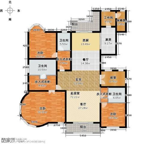 绿洲康城金邸3室0厅3卫1厨244.89㎡户型图