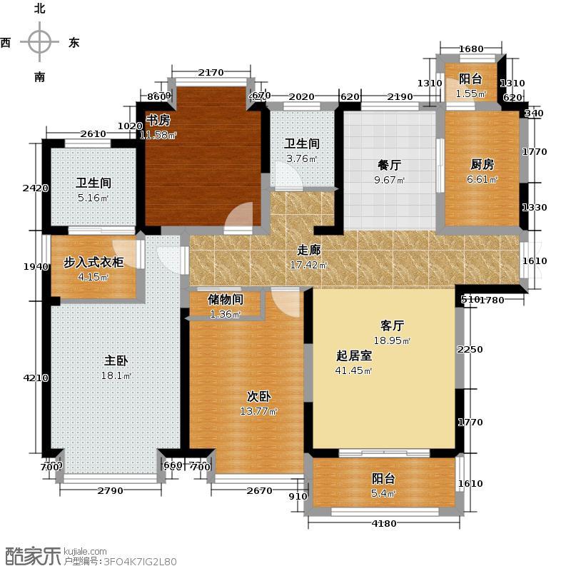 苏宁荣悦B2户型3室2卫1厨