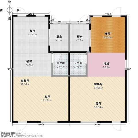 大旺・海印又一城2厅2卫2厨117.00㎡户型图