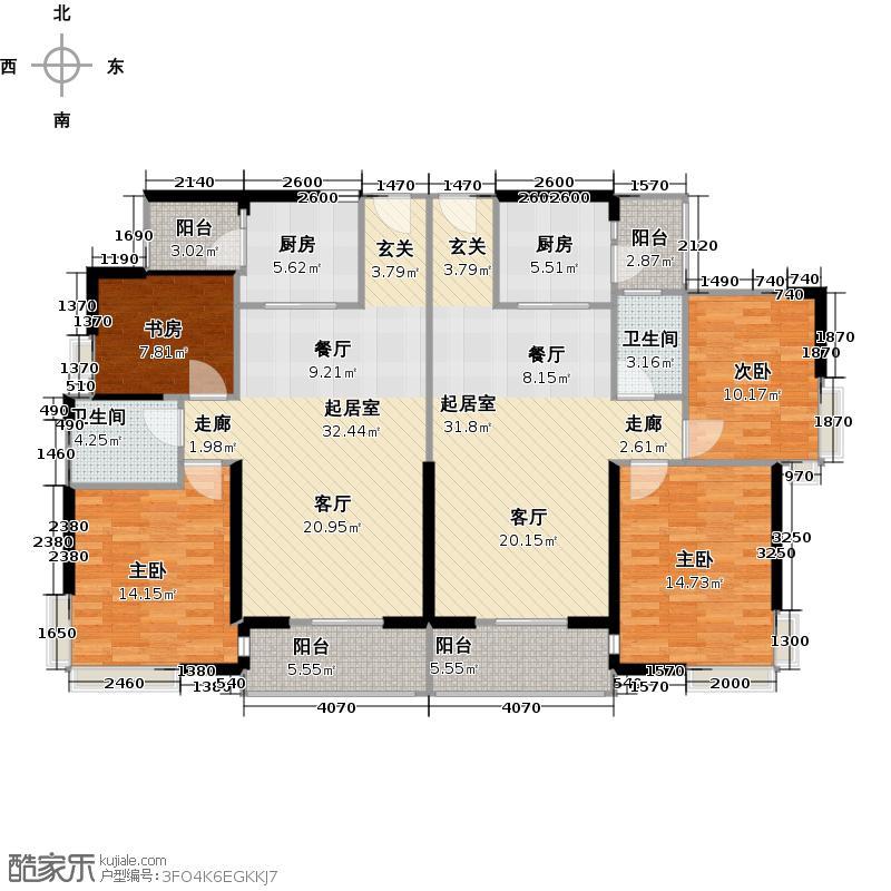 自由人花园A1/A1d/A2/A2d户型4室2卫2厨