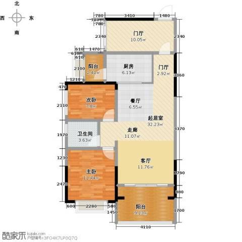 龙光城2室0厅1卫1厨92.00㎡户型图