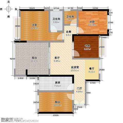 龙光城3室0厅2卫1厨111.00㎡户型图