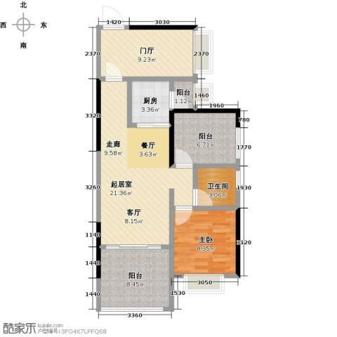 龙光城1室0厅1卫1厨72.00㎡户型图
