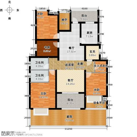新城馥华里4室0厅2卫1厨151.69㎡户型图