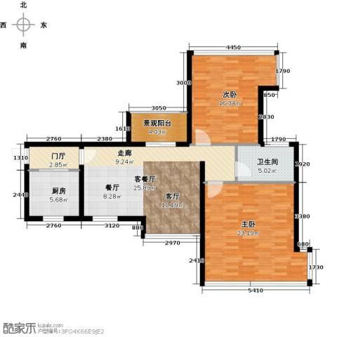 雅居乐锦官城2室1厅1卫1厨93.00㎡户型图