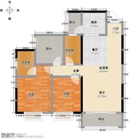 龙光城2室0厅2卫1厨95.00㎡户型图