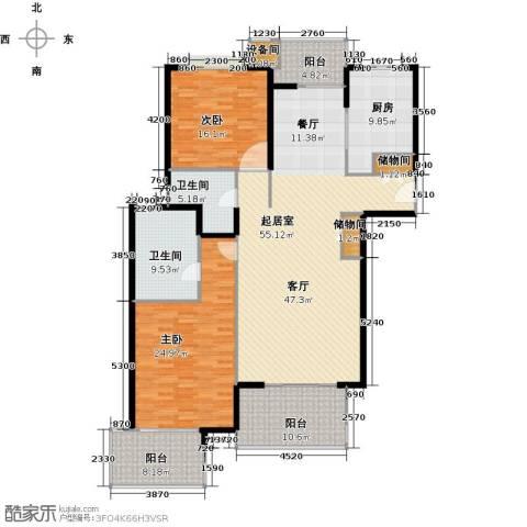 虹桥晶典苑2室0厅2卫1厨147.74㎡户型图