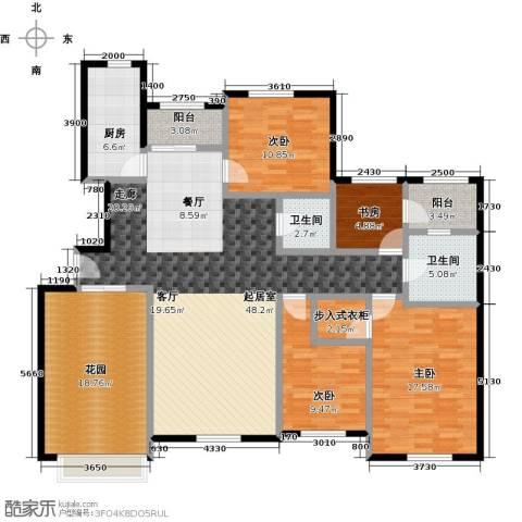 海上国际花园4室0厅2卫1厨154.00㎡户型图