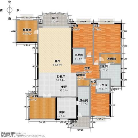 信达阳光海岸3室1厅4卫1厨291.00㎡户型图