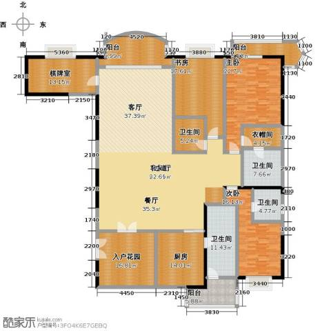 信达阳光海岸3室1厅4卫1厨278.00㎡户型图