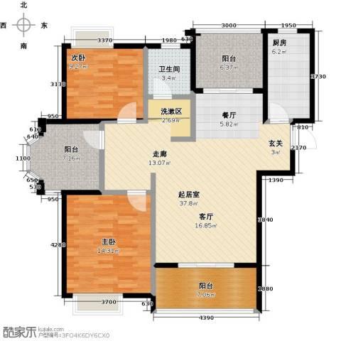 恒文星尚湾2室0厅1卫1厨102.00㎡户型图