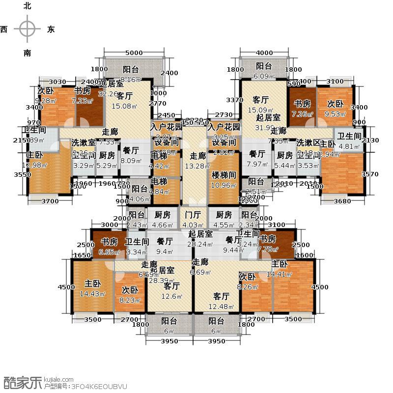 尚品雅居尚品雅居户型图3栋1座奇数层平面户型图(21/31张)户型10室