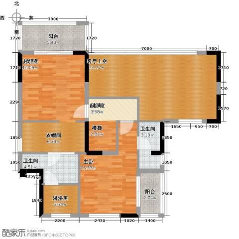 和黄懿花园1室0厅2卫0厨173.00㎡户型图