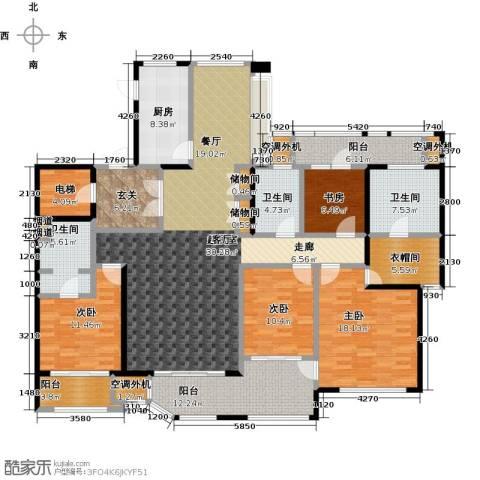 绿地梧桐院4室0厅3卫1厨195.00㎡户型图