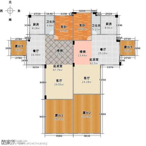 大旺・海印又一城2室0厅2卫2厨410.00㎡户型图