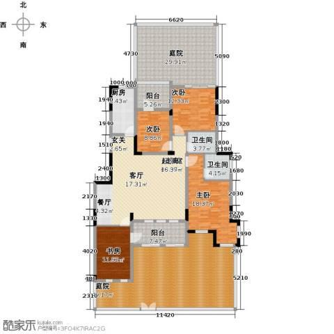 金地滟澜山4室0厅2卫1厨198.23㎡户型图