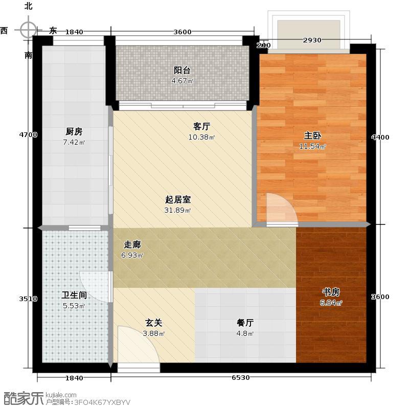 荟锦2-13层0714-17层05户型1室1卫1厨