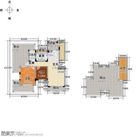 同景国际城恋山2室0厅1卫1厨216.00㎡户型图