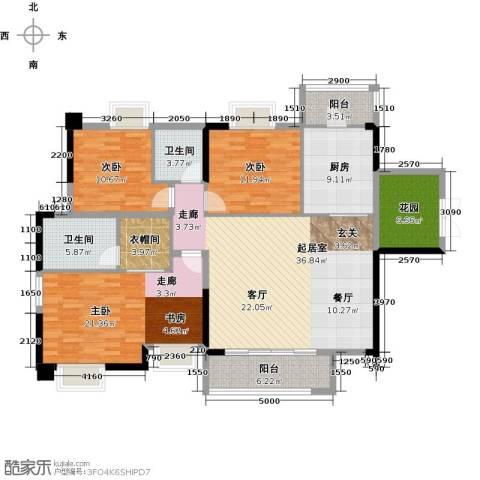 奥园金域3室0厅2卫1厨138.00㎡户型图