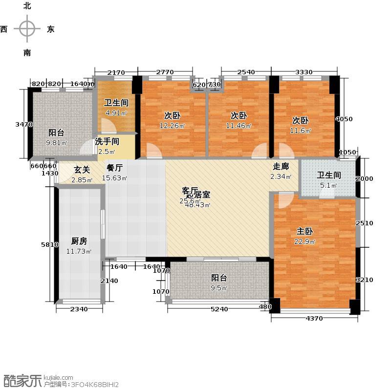 万科广场165.00㎡天仰阁5室2厅2卫1厨户型5室2厅2卫