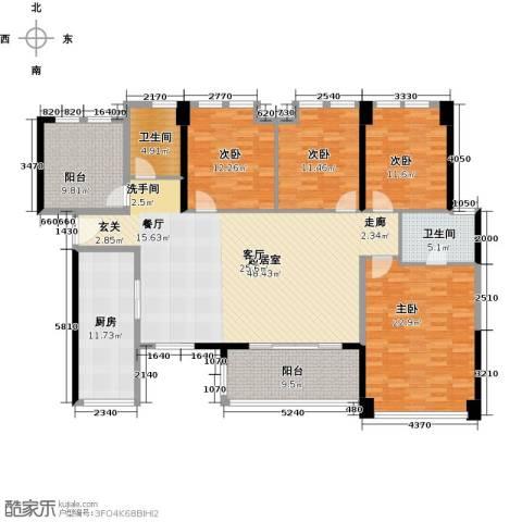 万科广场4室0厅2卫1厨165.00㎡户型图