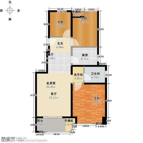金地松江艺境3室0厅1卫1厨144.00㎡户型图