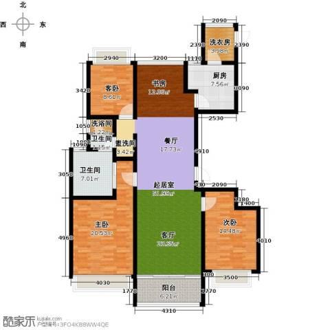 雅戈尔东海府3室0厅2卫1厨140.00㎡户型图