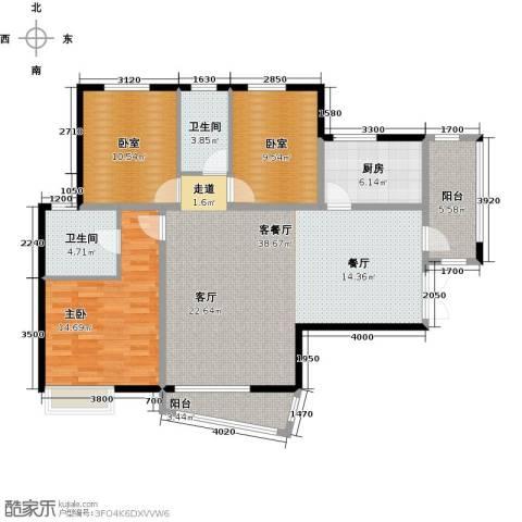 盛世8号1室1厅2卫1厨136.00㎡户型图