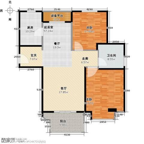 金地松江艺境2室0厅1卫1厨144.00㎡户型图