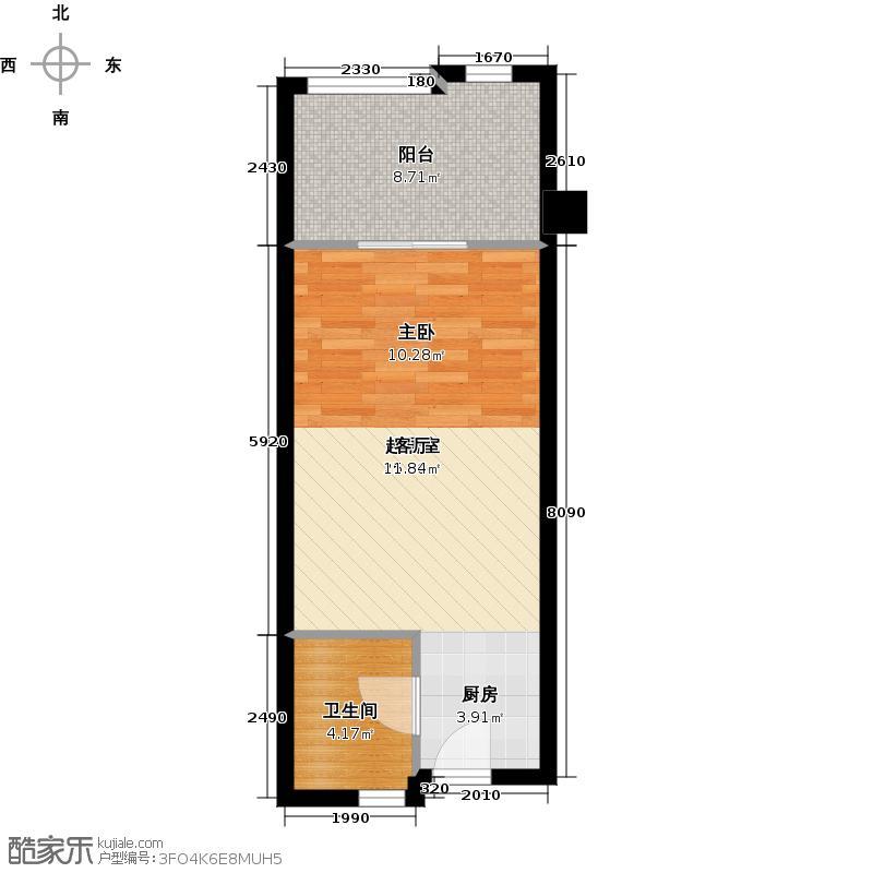 八十步海寓单身公寓户型