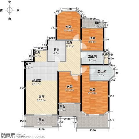 金地松江艺境4室0厅2卫1厨144.00㎡户型图