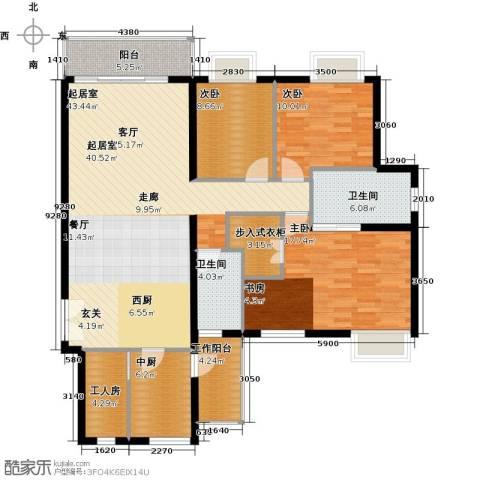 瑞安创逸3室0厅2卫0厨129.00㎡户型图