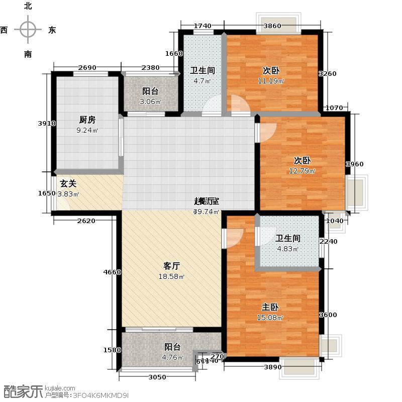 盛世宝邸C1户型3室2卫1厨