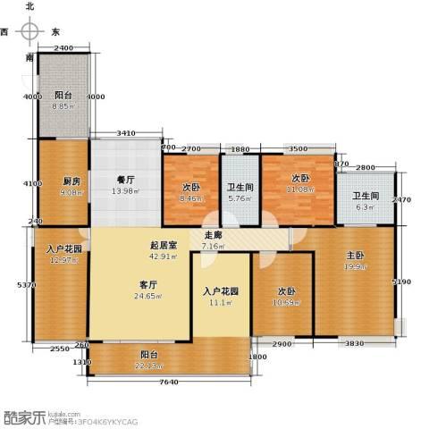 香樟1号4室0厅2卫1厨212.00㎡户型图