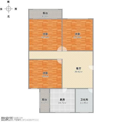 车站新村3室1厅1卫1厨218.00㎡户型图
