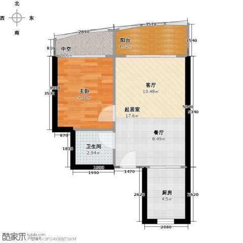 山水兰庭1室0厅1卫1厨50.00㎡户型图