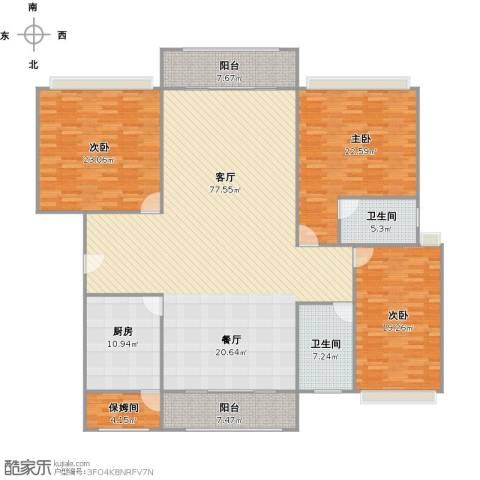 西班牙名园3室1厅2卫1厨245.00㎡户型图