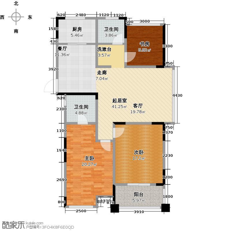 天禄西阆苑F-2户型3室2卫1厨