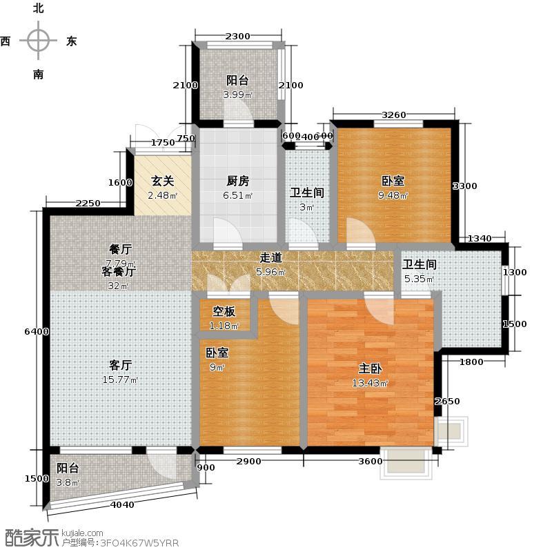 盛世8号三单元03卫户型1室1厅2卫1厨