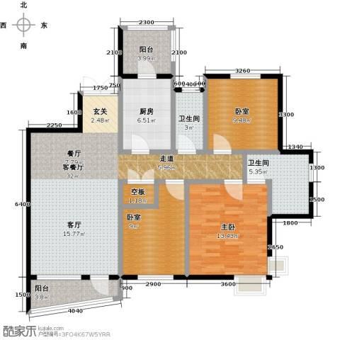 盛世8号1室1厅2卫1厨126.00㎡户型图