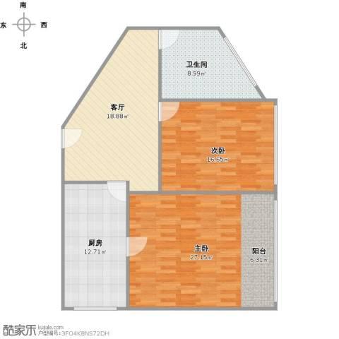 梅陇五村2室1厅1卫1厨112.00㎡户型图